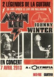 alvin lee and johnny winter poster