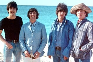 "The Beatles in Bahamas during filming of ""Help!"""