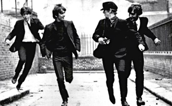 Beatles in Hard Day's Night movie