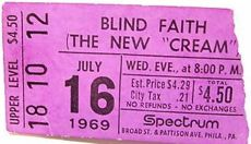 blind faith band ticket for spectrum 1969