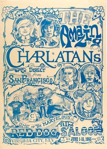 Charlatans psychedelic rock poster