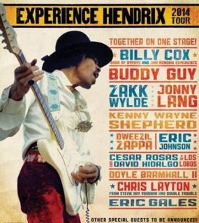 Poster for 2014 Experience Hendrix Tour