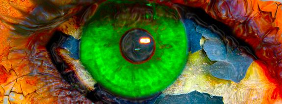 Psychedelic eye of acid rock