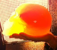 candy skull with Flaming Lips music inside