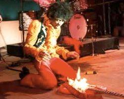 jimi hendrix burns guitar at monterey