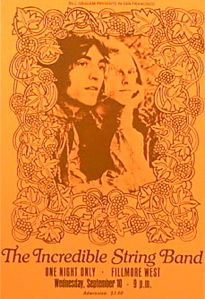 incredible string band fillmore west poster