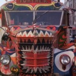furthur school bus in psychedelic colors