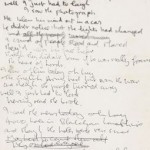 Lennon's 'A Day in the Life' lyrics for sale
