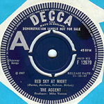 red sky at night 45 rpm single from 1967