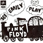 see emily play 45 rpm single with drawing by Syd Barrett